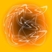 Abstract white smoke on orange background — Stock Photo