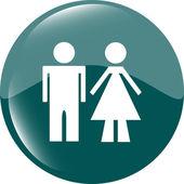 Icon toilet button, Man and Woman — Stock Photo