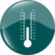 Thermometer icon blue button — Stock Photo