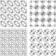 Set of monochrome geometrical patterns — Stock Photo