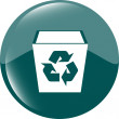 Eco recycle bin icon on a white background — Stock Photo