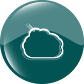Abstract cloud upload icon button, design element — Stok fotoğraf