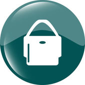 Shopping bag icon web button — Stock Photo