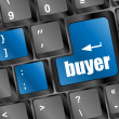 Stock Photo: Buyer button on keyboard - business concept