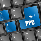 PPC (Pay Per Click) Concept. Button on Modern Computer Keyboard — Stock Photo