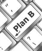 Plan b-taste auf der computertastatur - geschäftskonzept — Stockfoto