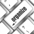 Word organize on computer keyboard key — Stock Photo #32780213