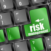 Keyboard with risk management button, internet concept — Stock Photo