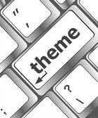 コンピューターのキーボードのテーマ ボタン — ストック写真