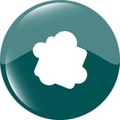 Glossy cloud web button icon — Stockfoto