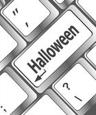 Halloween key on computer keyboard — Stock Photo