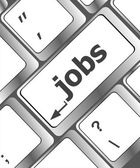 Computer keyboard with jobs on enter key - business concept — Stock Photo