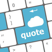 Key for quote - business concept — Zdjęcie stockowe