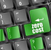 Zero kosztów przycisk na klawiaturze komputera — Zdjęcie stockowe