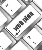 Web plan concept with key on computer keyboard — Stok fotoğraf