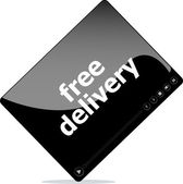 Video movie media player with free delivery word on it — Photo