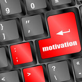 Motivation button on computer keyboard key — 图库照片