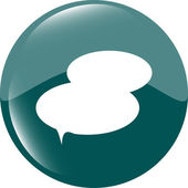 Icono del botón discurso burbuja web app — Foto de Stock