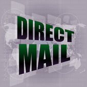 Direct mail word on digital touch screen — Stock Photo