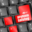 Problem solving button on computer keyboard key — Stock Photo