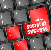 Secret of success button on computer keyboard key — Stock Photo