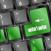 Win button on computer keyboard key — Stock Photo
