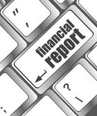 Keyboard with financial report button — Stock Photo