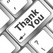 Computer keyboard with Thank You key, business concept — Stock Photo