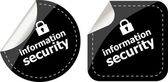 Information security black stickers label tag set — Стоковое фото