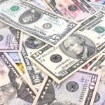 Money background dollar notes — Stock Photo