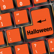Halloween word on button of the keyboard key button — Stock fotografie