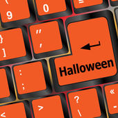 Halloween word on button of the keyboard key button — Stock Photo