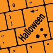 Stok fotoğraf: Halloween word on button of the keyboard key button