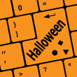 Zdjęcie stockowe: Halloween word on button of the keyboard key button