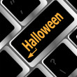 Halloween key on computer keyboard — Stockfoto
