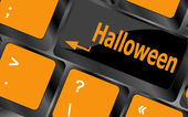 Halloween word on button of the keyboard key — Stock Photo
