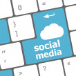 Social media keyboard button — Stock Photo