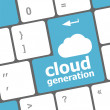 Cloud generation words concept on blue button of the keyboard — Stock Photo
