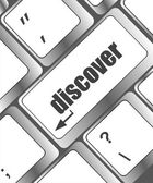 Word discover on computer keyboard key — Stock Photo