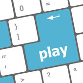 Play word on computer keyboard button — Stock Photo