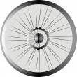 Bike wheel black silhouette — 图库照片