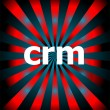 Crm word with motion rays on background — Stock Photo