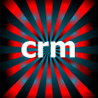 Stock Photo: Crm word with motion rays on background