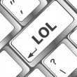 Stock Photo: Keys saying lol on black keyboard