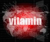 デジタル画面上の単語のビタミン — ストック写真