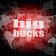 Big bucks words on digital touch screen — Stock Photo #35054803