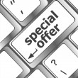 Special offer button on computer keyboard — Stock Photo #35054817