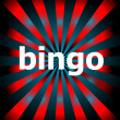 Abstract background of star burst with bingo word — Stock Photo