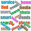 Social media concept in word tag cloud — Stock Photo