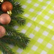 Christmas tree fir and balls — 图库照片